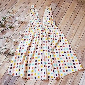 Alice & Olivia Silk Polka Dot Mini Dress
